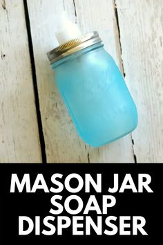 These DIY Glow-in-the-Dark Mason Jar Soap Dispenser looks super cute and country-chic during the day (and glows bright at night to temp your kids to wash their hands when they use the bathroom in the middle of the night)! Get the full tutorial at MomDot.com!