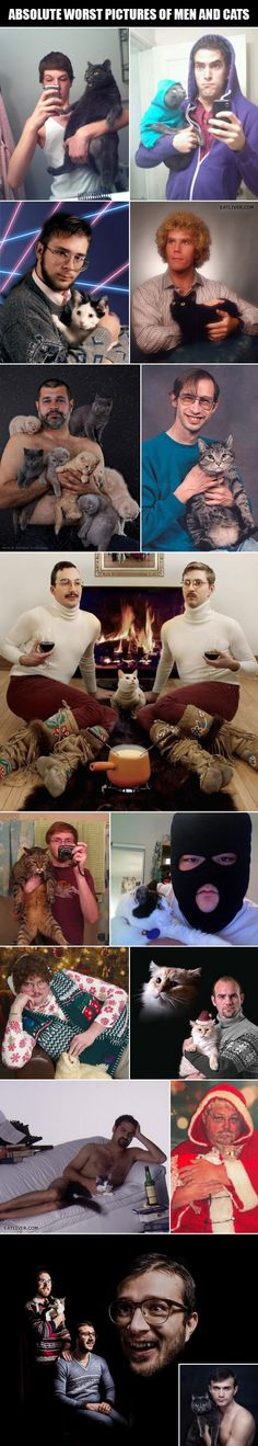 Horrible Pictures of Men and Cats...my kind of men right here