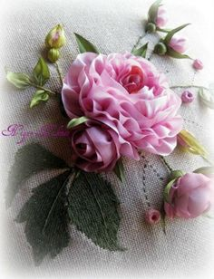 Wonderful Ribbon Embroidery Flowers by Hand Ideas. Enchanting Ribbon Embroidery Flowers by Hand Ideas. Ribbon Art, Diy Ribbon, Ribbon Crafts, Flower Crafts, Ribbon Rose, Ribbon Sewing, Types Of Embroidery, Silk Ribbon Embroidery, Hand Embroidery Patterns