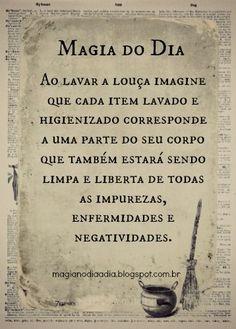 Magia no Dia a Dia: Magia do Dia: lavando louça http://magianodiaadia.blogspot.com.br/2016/11/magia-do-dia-lavando-louca.html