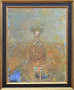 "Bauta by Vachagan Narazyan 35.5"" x 28"" oil Meyer Gallery"