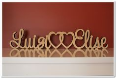 Wooden Names, Laser Engraving, Hearts, Link, How To Make, Decor, Decoration, Decorating, Deco