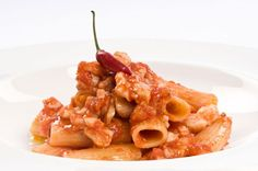Spicy pasta with fish