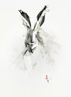 Rabbit Fine Art Print by Alexis Marcou. Authentic giclee print artwork on paper or canvas. Wall Art purchases directly support the artist. Rabbit Illustration, Illustration Art, Hase Tattoos, Painting Prints, Fine Art Prints, Rabbit Tattoos, White Rabbit Tattoo, Rabbit Art, New Art