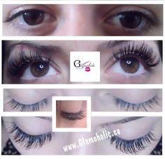 Glamoholic Client - Before & After Eyelash Extension application comparison
