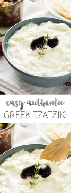 Tzatziki Sauce Recipe - this greek yogurt cucumber dip tastes great with grilled meat or fish! You never want to buy Tzatziki at the store again after trying my easy authentic recipe.