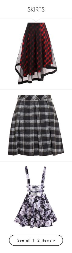 """""""SKIRTS"""" by valaquenta ❤ liked on Polyvore featuring skirts, tartan midi skirt, tartan skirt, midi skirts, plaid skirt, asymmetric midi skirt, bottoms, black, proenza schouler and knee length summer skirts"""