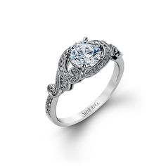 This feminine semi mount from our Dutchess Collection is enhanced by .19 ctw of dazzling white diamonds.