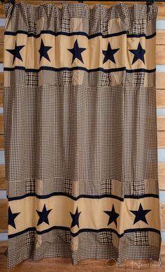Charming Jamestown Black And Tan Shower Curtain