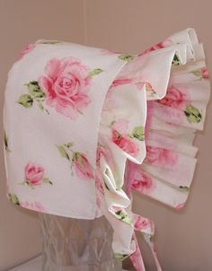 Baby Bonnet Lovely Rose Baby Hat Reversible by MaryandEllen, $22.00