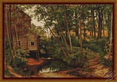 Water Mill in the Forest - Cross Stitch Kits by Luca-S - B456