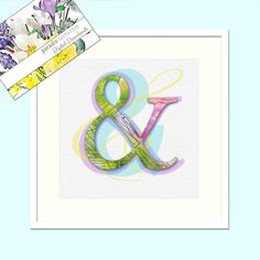 Ampersand Symbol, Pastel Colours, Modern Decor, Printable Art, Instant Download, Letter,Typography, Watercolour Print, Wall Art Poster & Thing 1, Pastel Colours, Typography, Lettering, Watercolor Print, Printing Services, Printable Art, Modern Decor, Framed Prints