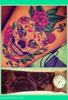 Skull Candy & Rose tattoo