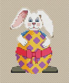 free cross stitch pattern - bunny
