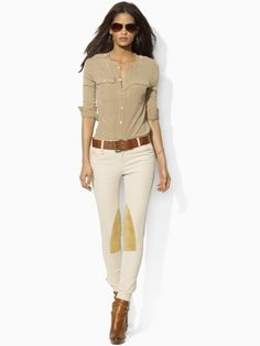 look stylish and sexy in these equestrian inspired Jodhpur pants by Ralph Lauren #DMTC #coolasever