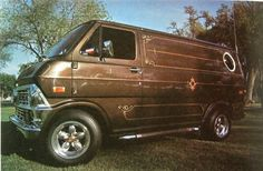 1970s custom van brown chrome mags