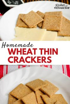 Homemade Whole Wheat Crackers Recipe: Wheat Thin Style: Thin, crispy, and addictive, this healthy cracker recipe will quickly become a favorite! Whole wheat crackers have never been so tasty. #cleaneatingrecipes #realfood