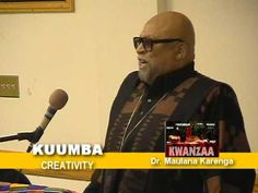 #KUUMBA #Kwanzaa Celebration!  Today's Kwanzaa Principle for December 31: Kuumba (koo-OOM-bah): Creativity    To do always as much as we can, in the way that we can, in order to leave our community more beautiful than when we inherited it.    Kwanzaa founder, Dr. Keranga, explains KUUMBA:  http://www.youtube.com/watch?v=x1w6gr-C9LM