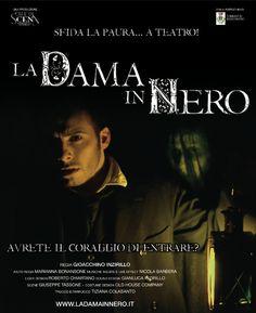 """Un atto unico, inedito, che regala suspence in chiave Noir, questo è la Dama in Nero di e con Gioacchino Inzirillo (""""Crozza nel Paese delle Meraviglie"""", """"Excalibur"""", """"Grease"""", attualmente in scena accanto a Manuel Frattini in """"Pinocchio"""", nel ruolo di Lucignolo, Compagnia della Rancia) #dama #nero #noir [stagione teatrale 2015 - 2016]"""