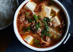 Now that we've made a gallon of kimchi, I guess we need to start using it!  Kimchi Tofu Soup, a recipe on Food52