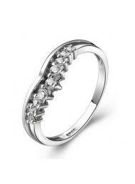 Sterling zilveren ringen kunnen worden gegraveerd Swiss Diamond Girl 0150