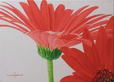 How to Paint a Gerbera Flower