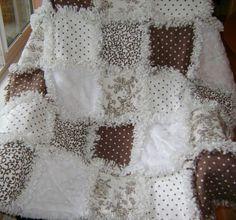 neutral paisley rag quilt