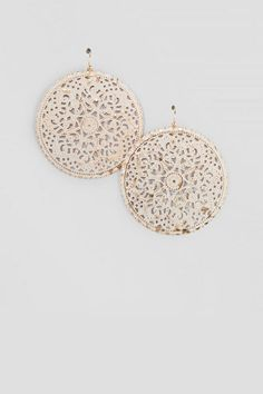 The Patina Filigree Drop Earrings have a rustic vintage feel to them.