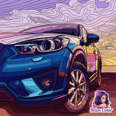 See what sports cars bring to life Classic Cars, Vehicles, Painting, Color, Sports, Life, Hs Sports, Vintage Classic Cars, Painting Art