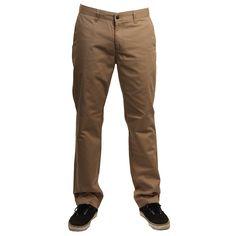 Volcom Mens Pants Frickin Modern Chino Khaki