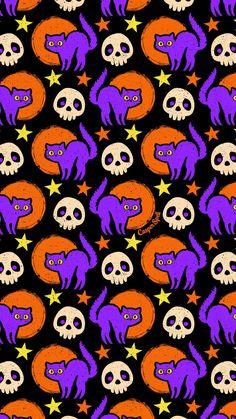 Halloween Snacks, Halloween Night, Cute Halloween, Vintage Halloween, Halloween Decorations, Halloween Activities, Disney Halloween, Cute Fall Wallpaper, Halloween Wallpaper Iphone