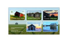 COLLECTORZPEDIA Finnish Barns Homeland, Time Travel, Postage Stamps, Polaroid Film, Mansions, Country, House Styles, Barns, Buildings
