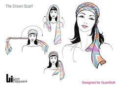 dessin illustration de mode (comment mettre foulard)