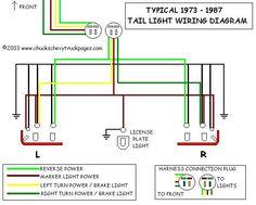 truck tail light wiring diagram repair manual  tail light wiring diagram #13
