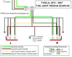 85 chevy truck wiring diagram chevrolet truck v8 1981 1987 headlight and tail light wiring schematic diagram typical 1973 1987 chevrolet truck