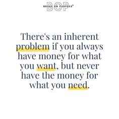 reposting from @brokeonpurpose Spending money on things we WANT satisfies a deep burning desire. It calms an itch, quenches a thirst. Spending money on things we NEED feels like a chore and restrictive. You need to know how to make your money work harder for you so that you can stop working harder for it. Where do you fall on this line? Do you always have money for things you want but never for the things you truly need? #money #moneymanagement #financialplanning Work Harder, Finance Blog, Get Out Of Debt, Financial Planning, Ways To Save Money, Money Management, Personal Finance, Need To Know, Saving Money