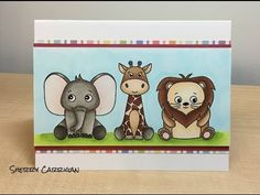 SSS Wild Cuddly Critters from April Card Kit - YouTube