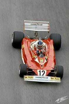 Reutemann 1977 Italy Ferrari 312T2