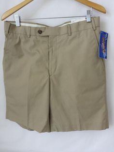 Pendleton Shorts Size 34 Flat Front Khaki Tan Brown Men #Pendleton #KhakisChinos