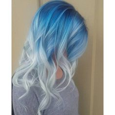 20 Icy Light Blue Hair Ideas ❤ liked on Polyvore featuring hair