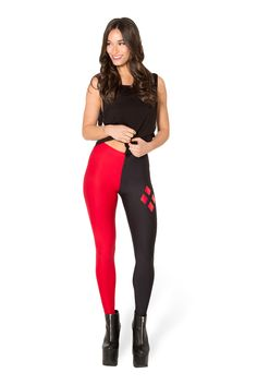 Harley Quinn Leggings (WW $75AUD / US $70USD) by Black Milk Clothing