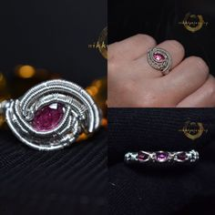 "Nikki YZ on Instagram: ""Okay ,let me try posting this again 🤣 Pink tourmaline ring , size approx 7 1/2 , accented with 3x gorgeous rhodolite garnet in ring band…"" Pink Tourmaline Ring, Band Rings, Garnet, Class Ring, Let It Be, Jewelry, Instagram, Granada, Jewlery"