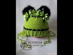 ВЯЗАНИЕ СПИЦАМИ!ДЕТСКАЯ ШАПКА С ПУМПОНАМИ!Knitting - YouTube