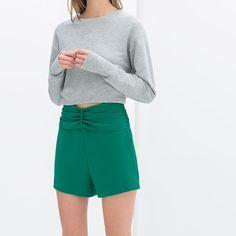 Zara high waisted short! Brand new with tag Zara 2014 collection Zara Pants