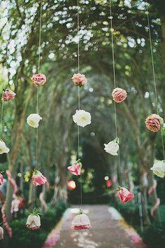 Guirlande de fleurs naturelles