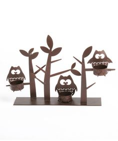 Look at this Owl & Tree Decorative Candleholder on #zulily today!