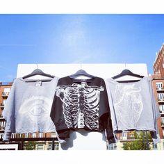 See you pullover eye skeleton heart sweatshirt szputnyikshop Unique Vintage, Skeleton, The Past, Brand New, Pullover, Eye, Crop Tops, Sweatshirts, Heart