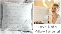 Sew a Love Note Pillow for Valentine's Day with iheartstitching  - Free Sewing Tutorial