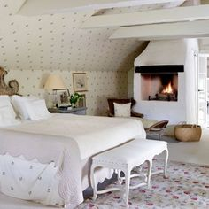 Swedish farmhouse bedroom belonging to the author of 'Scandinavian Design'
