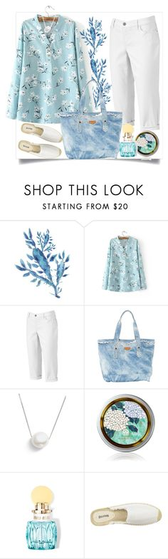"""""""Gentle season"""" by natalyapril1976 ❤ liked on Polyvore featuring Croft & Barrow, Chan Luu, Miu Miu, Soludos and plus size clothing"""